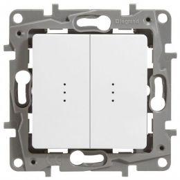 Переключатель Etika P 2-кл с индикацией 672216 белый