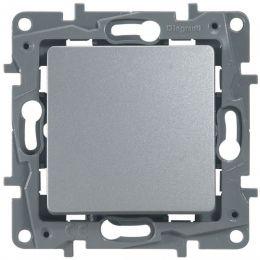 Выключатель Etika P 1-кл 672411 алюминий